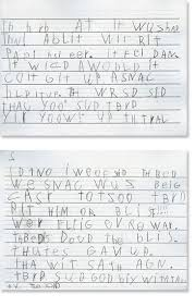 first grade writing sample 3 reading rockets