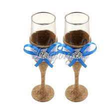 halloween wedding toasting glasses popular wine glasses blue buy cheap wine glasses blue lots from