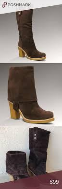ugg shoes australia brown boots poshmark ugg brown sheepskin josie convertible boots shoes heels boots ugg