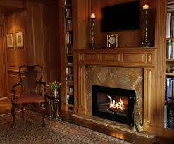 popular smokeless fireplace around red painted wall front white