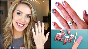 how to apply nail wraps easy nail art youtube