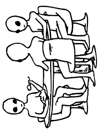 alien coloring 3 aliens eating table clip art library