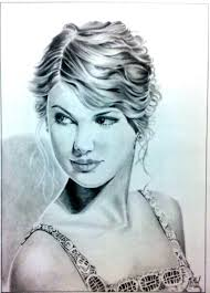 sketch of a hollywood actress taylor swift desipainters com