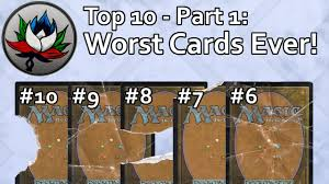 mtg top 10 worst magic the gathering cards printed part