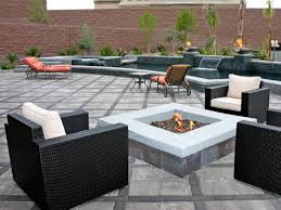 Stone Patio With Fire Pit Outdoor Fire Pits And Fire Pit Safety Hgtv