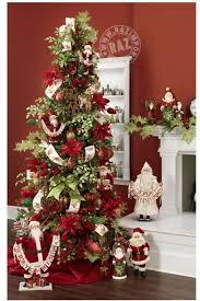 santa themed tree santa theme tree
