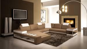 deco canapé deco in canape d angle panoramique en cuir marron et blanc