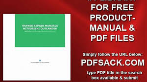 haynes repair manuals mitsubishi outlander video dailymotion