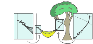 how to hang a hammock hanging indoors u0026 outside with yellow leaf