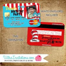 dr seuss invitations dr seuss invitations credit card invitations personalized unique