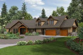 craftsman ranch house plans with walkout basement residential plan