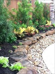 River Rock Garden Bed River Rock Flower Beds Rumovies Co