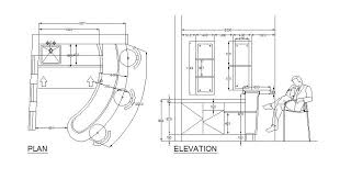 Home Elevation Design Free Download Bar Design Cad Drawing Cadblocksfree Cad Blocks Free