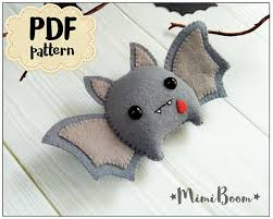 felt bat ornament pattern bat diy felt