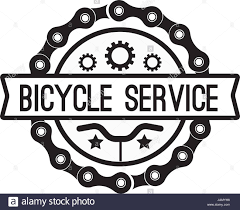 bike gear bike service badge vintage sports logo sticker for print on t