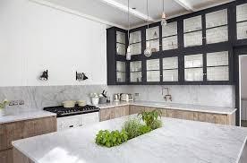 plante cuisine decoration déco cuisine moderne en plantes aromatiques intégrés à la table bar