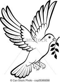 vector of cartoon dove birds logo for peace c vector