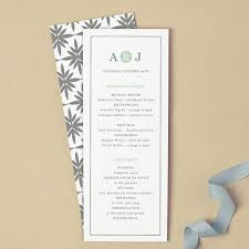flat wedding programs printable wedding program template instant mint type