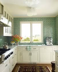 Interior  Interior Green Glass Subway Tile Backsplash With White - Green kitchen tile backsplash