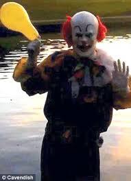 happy birthday creepy clown scary another creepy clown terrorises town teachers call after