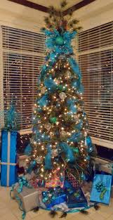 blue christmas tree i would do this tree without the peacock