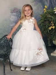 tea length satin and tulle girls formal dress joan calabrese