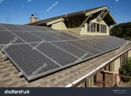 solar panels on houses solar panels on roof house horizontal stock photo 531563647