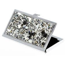 Bling Business Card Holder Online Shop Natural Semi Precious Stones Plastic Beads