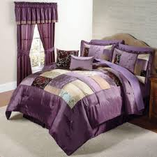 bedroom quilts and curtains purple comforter sets with curtains gopelling net