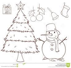 simple christmas drawing tree drawings in pencil pencil sketch