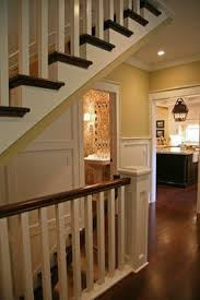 Kitchen Design With Basement Stairs A Basement Door Remodeled And Wall Opened To Give An Open Feel
