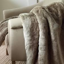 Furry Blanket Soft Faux Fur Throw Desert Fox Large Oka