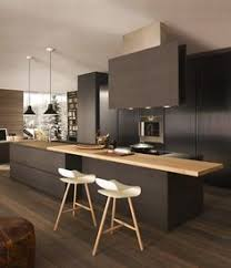 Modern Kitchen Island With Seating Useful Items Double As Decor In This Modern Kitchen Avi