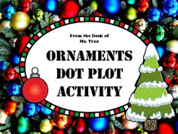 new ornaments dot plot fun math winter activity just in time for