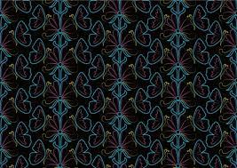 vector black flower butterfly pattern free vector 31 738