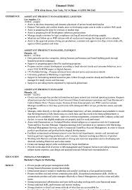 Assistant Marketing Manager Resume Sample Assistant Product Manager Resume Samples Velvet Jobs