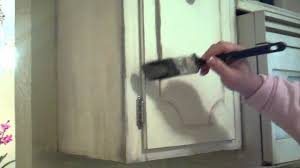 how to distress kitchen cabinets youtube