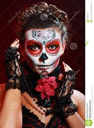 Sugar Skull Halloween Makeup Halloween Make Up Sugar Skull Stock Images Image 34961034