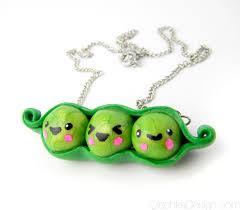 3 peas in a pod kawaii peas in a pod necklace by olechka01 on deviantart