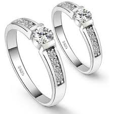 diamond couple rings images Buy rm jewellers cz 92 5 sterling silver american diamond stylish jpg
