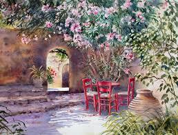 Flower Garden Chairs Flower Trees Peace Garden Calming Chairs Little Pots Blooms World