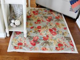 How To Make Home Decorations by How To Make A Rug From Upholstery Fabric How Tos Diy
