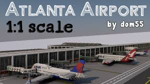 Atlanta Airport Map Delta by Atlanta Airport In Minecraft Progress Report Dom55 Youtube