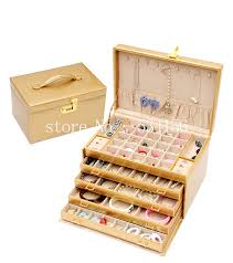 necklace jewellery boxes images Free shipping super big luxury leather jewelry box earrings watch jpg
