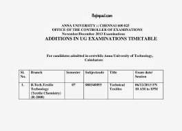 anna university nov dec 2013 exam changes additions in ug pg time