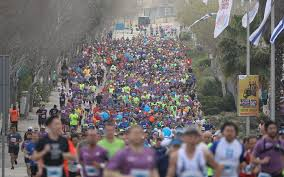 tunnel light marathon 2018 35 000 race through jerusalem in capital s largest ever marathon