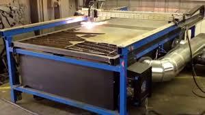 welding ventilation system cnc plasma custom built downdraft system youtube