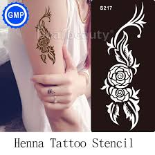 1pc reusable airbrush temporary tattoo stencil for body painting