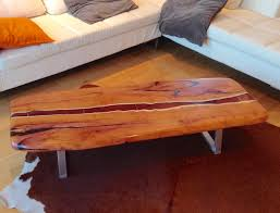 Yew Side Table Live Edge Yew Coffee Table With A River Of Resin