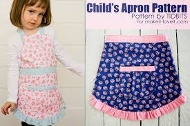 child s apron pdf pattern 6 pattern styles 5 different sizes